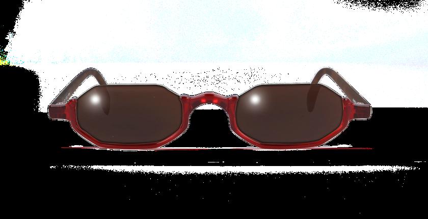 Lunettes de vue FT1S rouge/écaille - Vue de face