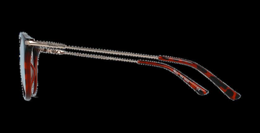 Lunettes de vue ANGIE rouge - Vue de côté