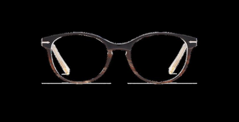 Lunettes de vue femme BELLEFONTAINE noir - Vue de face