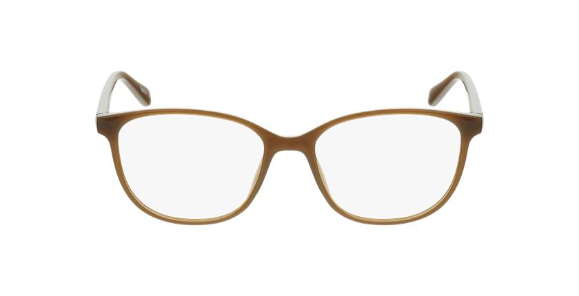 Lunettes de vue femme RZERO1 marron - Vue de face