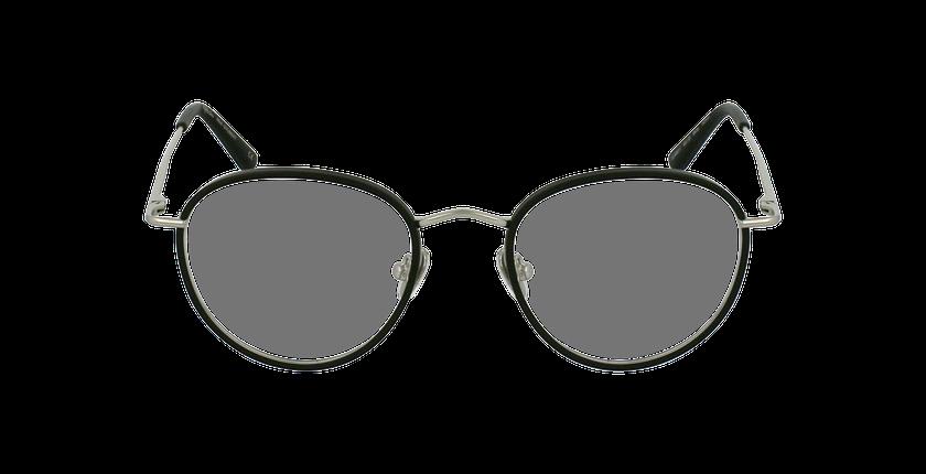 Lunettes de vue SHUBERT argenté/noir - Vue de face