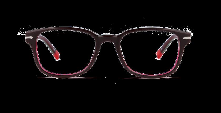 Lunettes de vue homme GREENWICH rouge/rouge - Vue de face