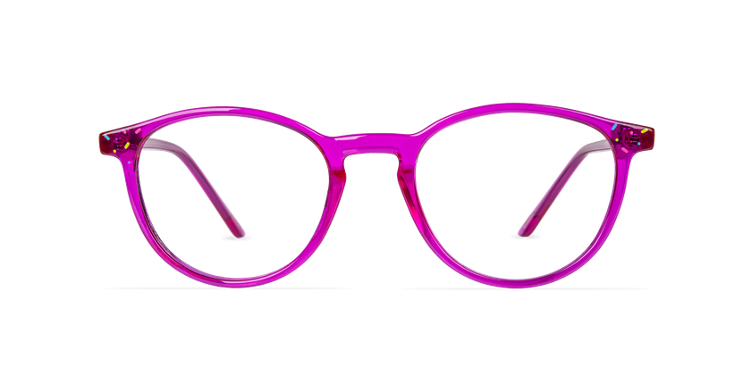 Lunettes de vue enfant BANANA rose - Vue de face