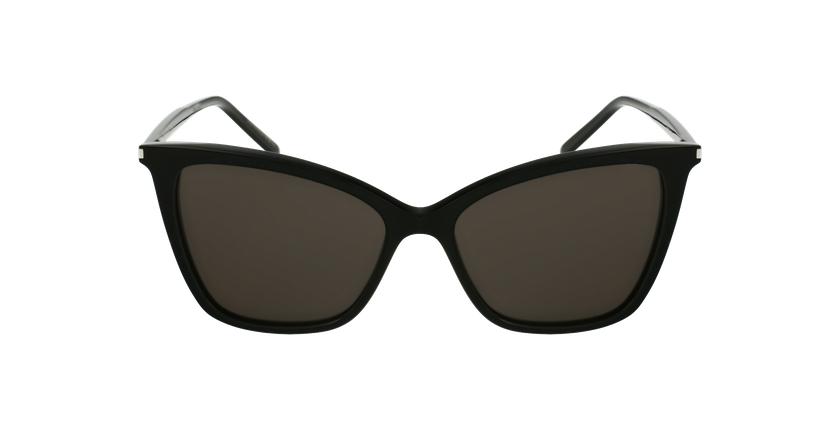 Lunettes de soleil femme SL 384 noir - Vue de face
