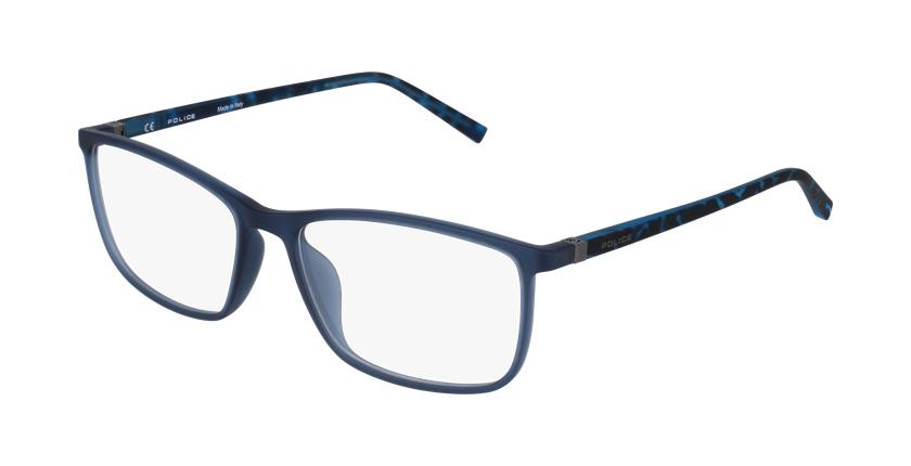 Lunettes de vue homme VPL255 gris/bleu - vue de 3/4