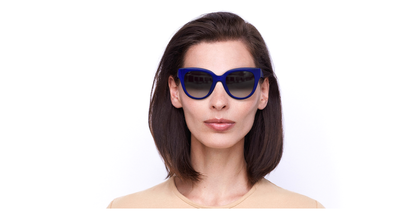 Lunettes de soleil femme BRITANY bleu - Vue de face