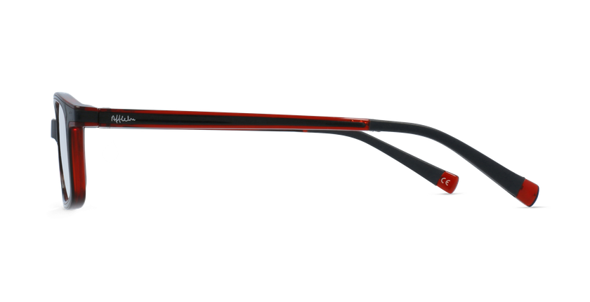 Lunettes de vue enfant RFOP1 noir/rouge - Vue de côté