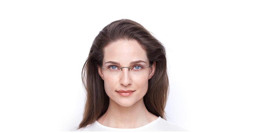 Lunettes de vue femme IDEALE-25 doré/noir - Vue de face