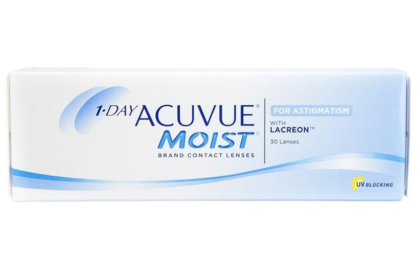 Lentilles de contact 1 Day Acuvue® Moist® for Astigmatism 30L - Vue de face  ... 6c97fdea776d