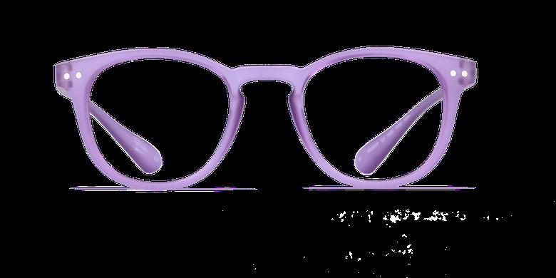 Lunettes de vue BLUE BLOCK MIXTE violetVue de face