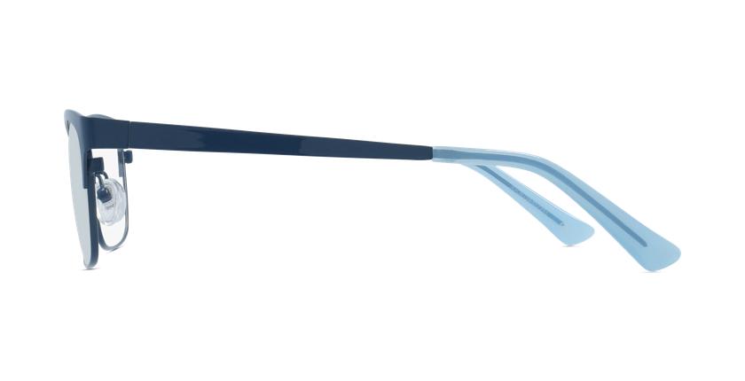 Lunettes de vue femme RZERO9 bleu - Vue de côté