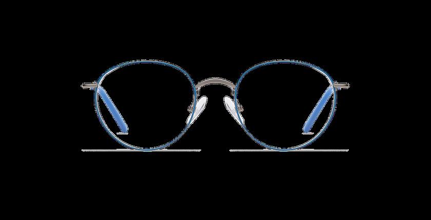 Lunettes de vue MATT bleu/argenté - Vue de face