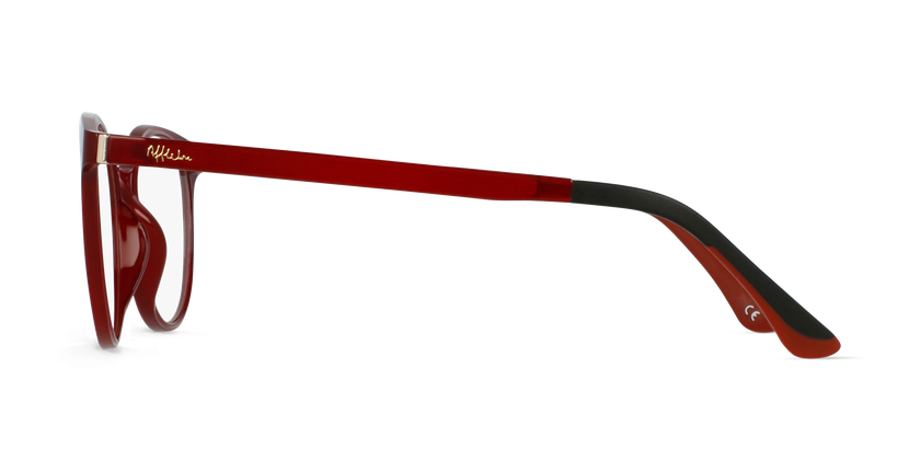 Lunettes de vue femme MAGIC 36 rouge - Vue de côté