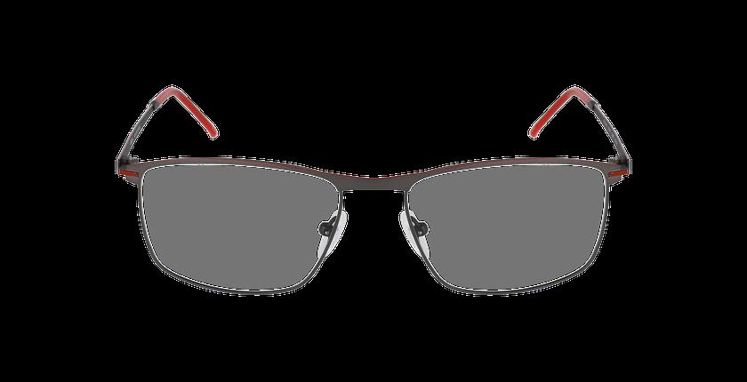 Lunettes de vue homme SATURNE gris/rouge - Vue de face