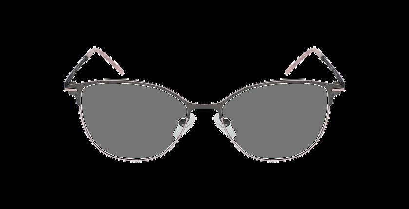Lunettes de vue femme JUNON gris/rose - Vue de face
