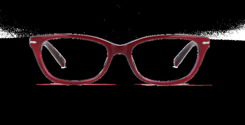 Lunettes de vue femme PLYMOUTH rouge - Vue de face