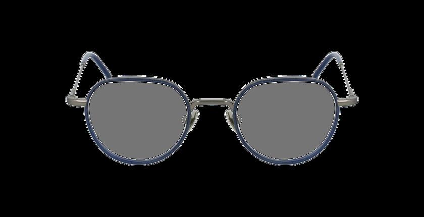 Lunettes de vue DEBUSSY argenté/bleu - Vue de face