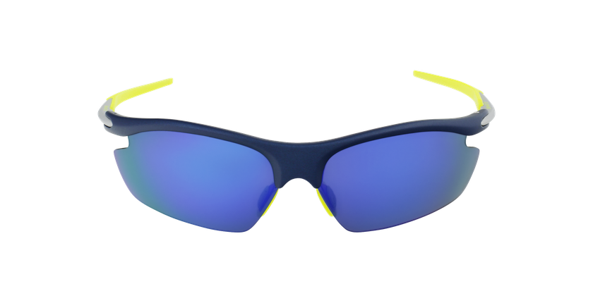 Lunettes de soleil homme Leisure bleu - Vue de face