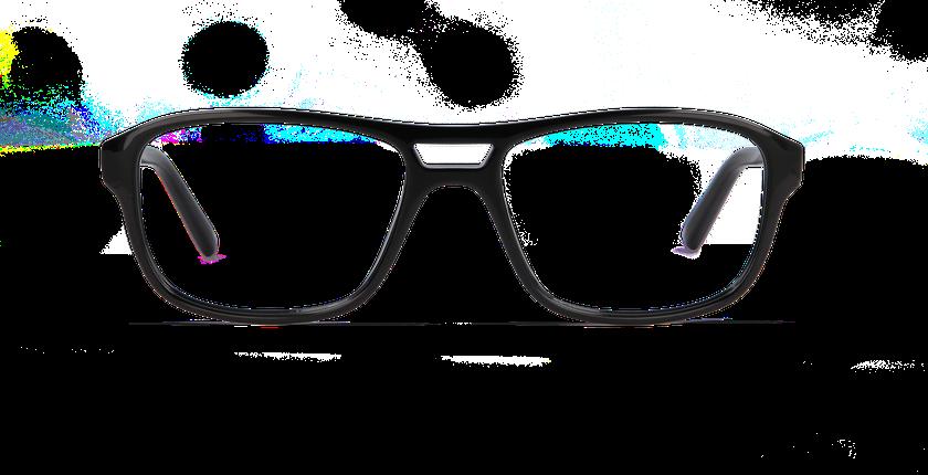 Lunettes de vue homme ELIO noir - Vue de face