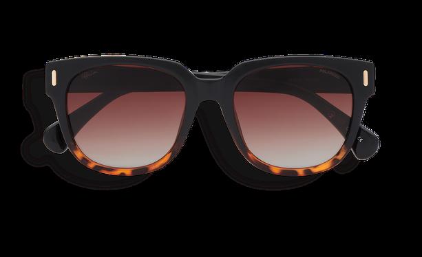 Lunettes de soleil femme MONOI POLARIZED noir/écaille - danio.store.product.image_view_face