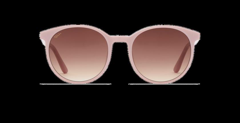 Lunettes de soleil femme JASMINE rose - Vue de face
