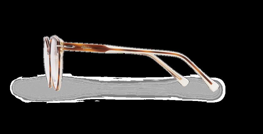 Lunettes de vue femme BELLEFONTAINE écaille/argenté - Vue de côté