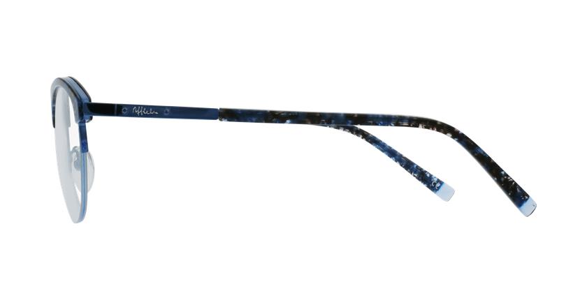 Lunettes de vue femme STRAUSS écaille/bleu - Vue de côté
