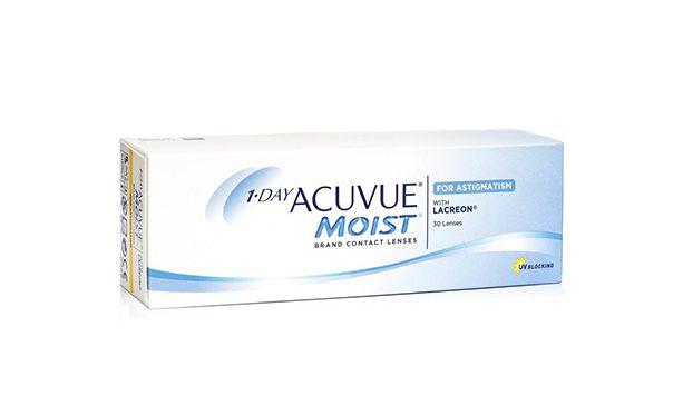 Lentilles de contact 1 Day Acuvue® Moist® for Astigmatism 30L - Vue de face