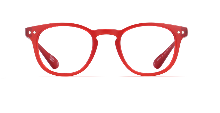 Lunettes de vue BLUE BLOCK MIXTE rouge - Vue de face