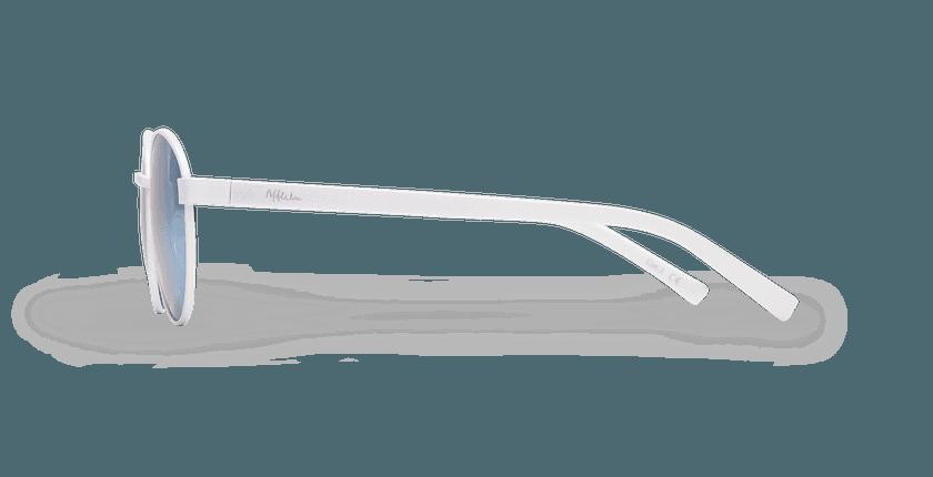 Lunettes de soleil femme TUTTI blanc - Vue de côté