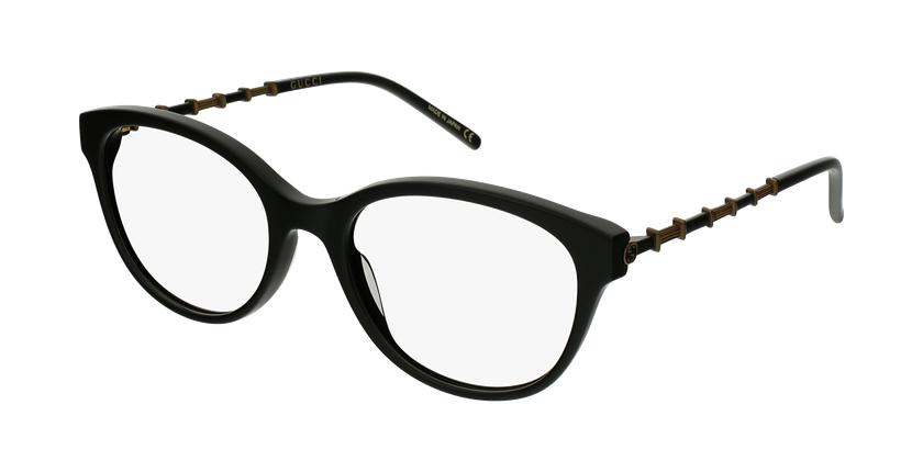 Lunettes de vue femme GG656O noir/doré - vue de 3/4