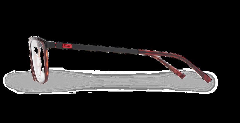Lunettes de vue homme ALPHA14 rouge - Vue de côté