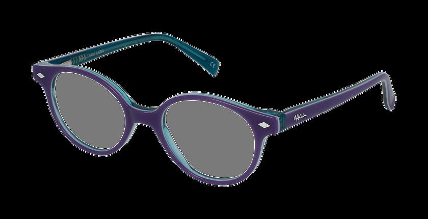 Lunettes de vue enfant ILONA violet/turquoise - vue de 3/4