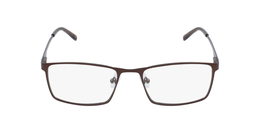 Lunettes de vue homme CEDRIC marron - Vue de face
