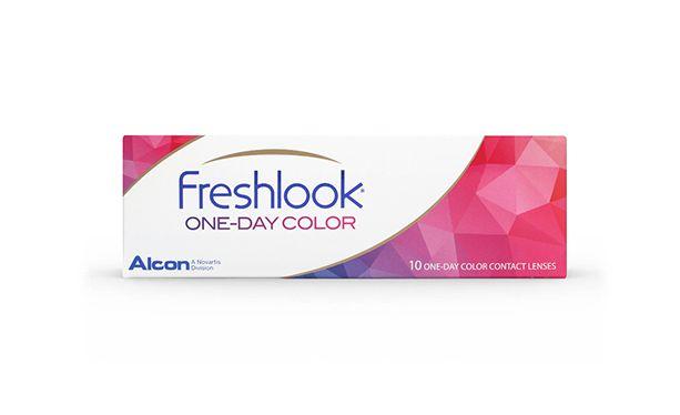 Lentilles de contact FreshLook 1 Day Blue 10L - Vue de face