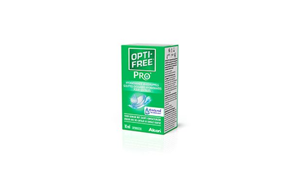 Opti-free Pro Hydratant 10 ml - Vue de face