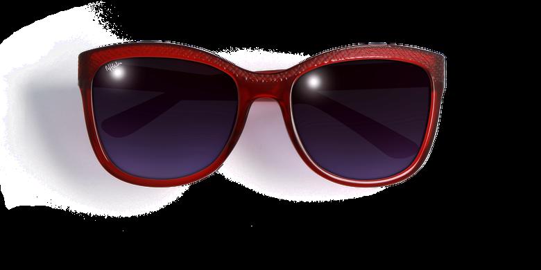 Lunettes de soleil femme ELVIRA rouge
