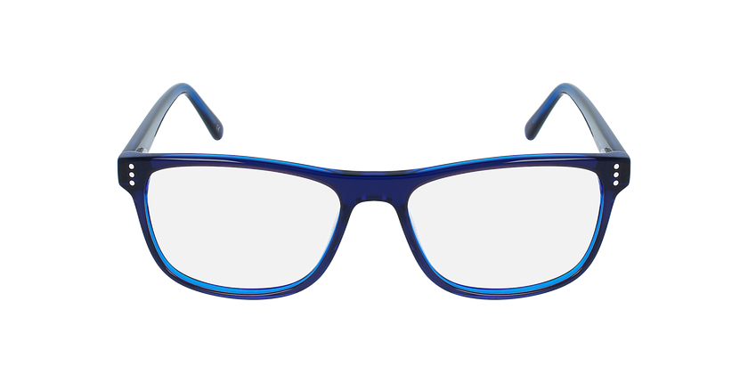 Lunettes de vue homme HECTOR bleu - Vue de face
