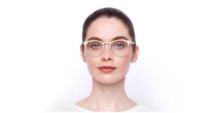 Lunettes de vue femme MAGIC 44 blanc/gris - Vue de face