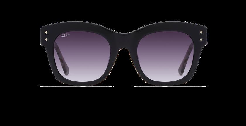 Lunettes de soleil femme ORNELLA noir/écaille - Vue de face