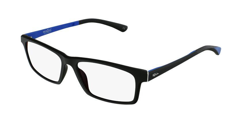 Lunettes de vue homme MAGIC 62 noir/bleu - vue de 3/4