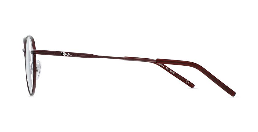 Lunettes de vue CLEO rouge - Vue de côté