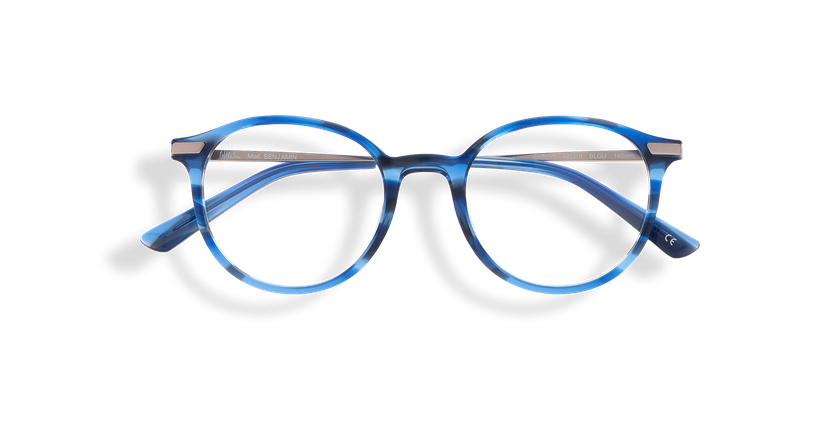 Lunettes de vue homme BENJAMIN bleu - Vue de face