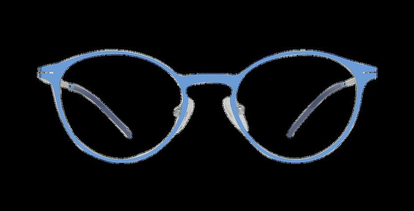Lunettes de vue femme OXYGEN bleu/argenté - Vue de face