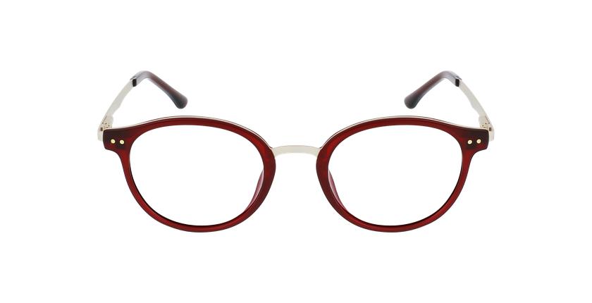 Lunettes de vue femme MAGIC 97 rouge/doré - Vue de face
