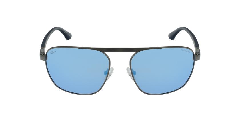 Lunettes de soleil homme ROB argenté/bleu - Vue de face