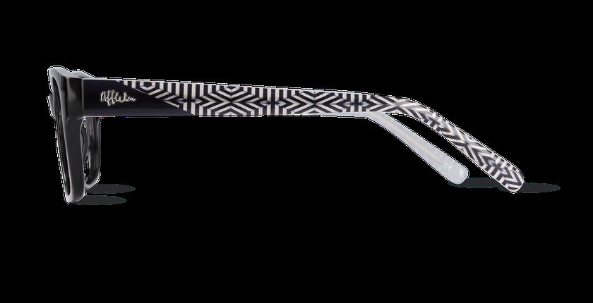 Lunettes de vue femme MONICA noir - Vue de côté
