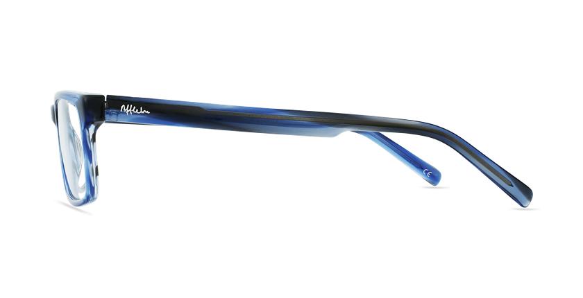 Lunettes de vue homme SOHAN bleu - Vue de côté