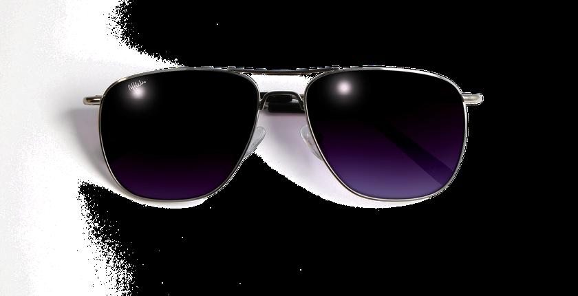 Lunettes de soleil homme SAH4855 argenté - Vue de face