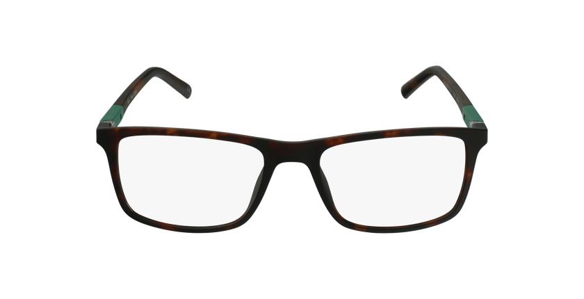 Lunettes de vue homme CESAR écaille/vert - Vue de face